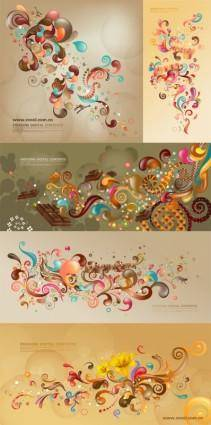 free vector Vector trend of colorful case series brown 5p