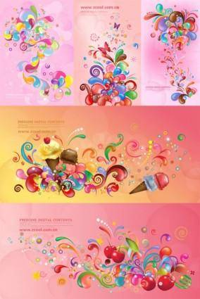 free vector Vector trend of colorful case series pink 5p