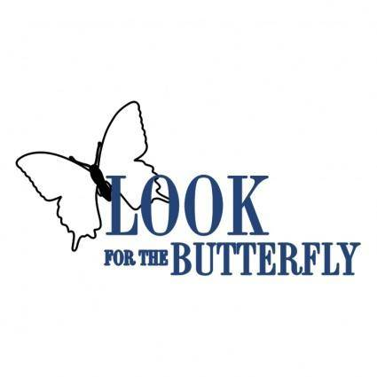 free vector Look for the butterfly