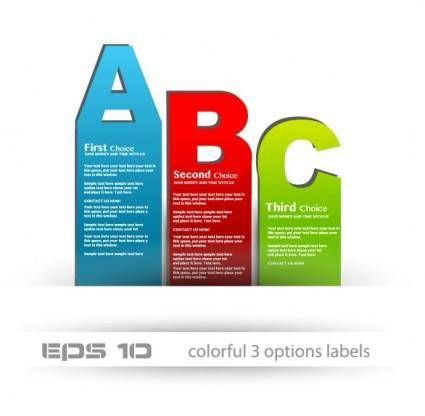free vector The stylish label design 04 vector