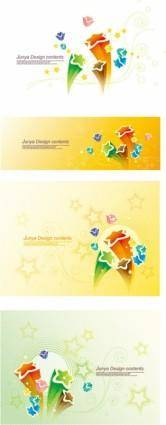 Threedimensional vector cute stars