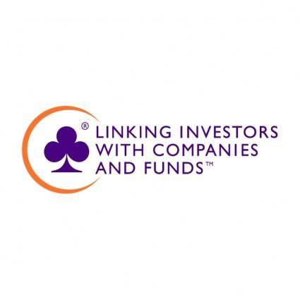 free vector Linking investors with companies and funds