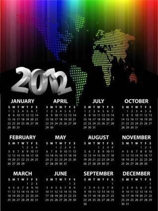free vector 2012 calendar template vector
