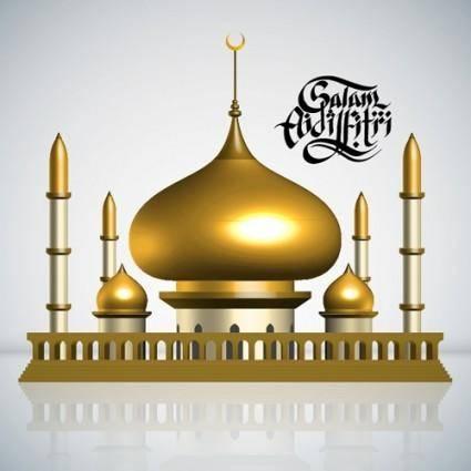 free vector Islamicstyle castle vector 2