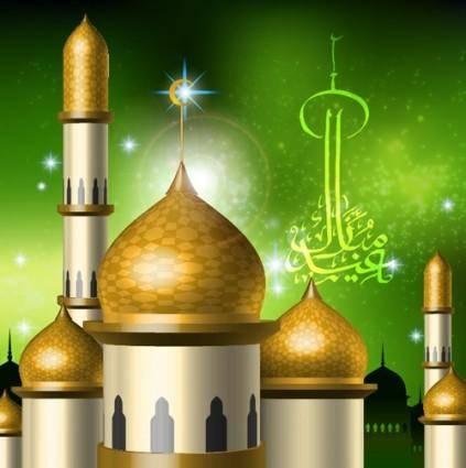 free vector Islamicstyle castle vector clip 3