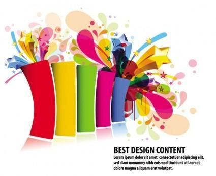 Colorful design elements vector 1