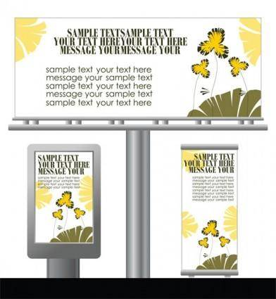 Light box billboards 1 template design vector