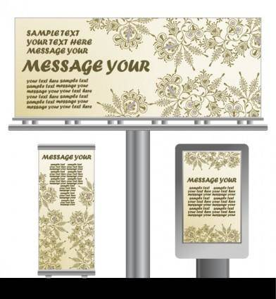 Light box billboards template design vector 3