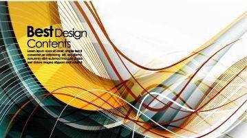 free vector Dynamic vector colorful stripes 1