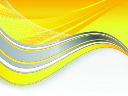 Bright yellow line text box vector 2