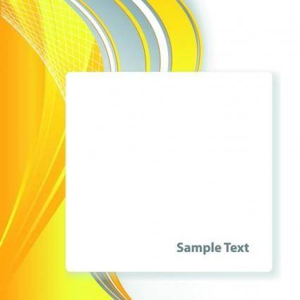 free vector Bright yellow line text box vector 3