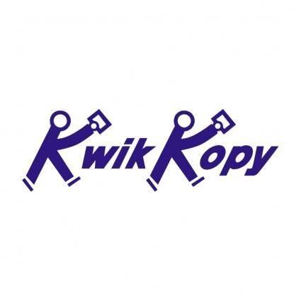 free vector Kwik kopy 0