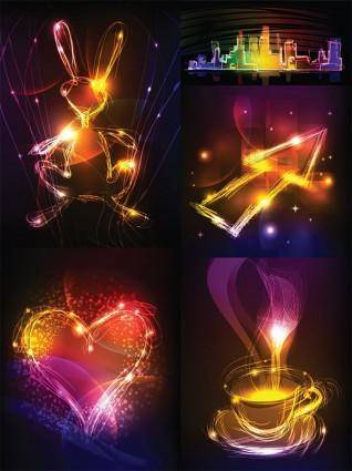 free vector Cool vector graphics symphony of light