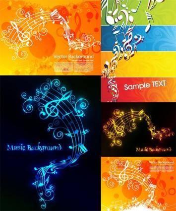 free vector Music theme vector