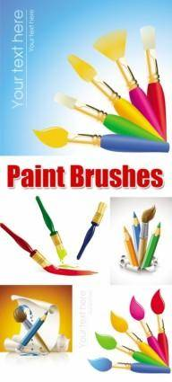 free vector Vector brush painting