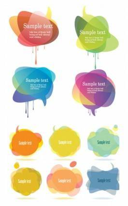 free vector Symphony dialogue bubbles superimposed vector