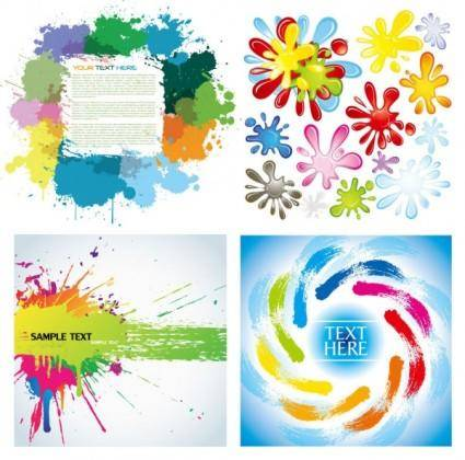 free vector Color ink vector