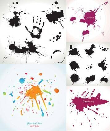 free vector Ink dots vector