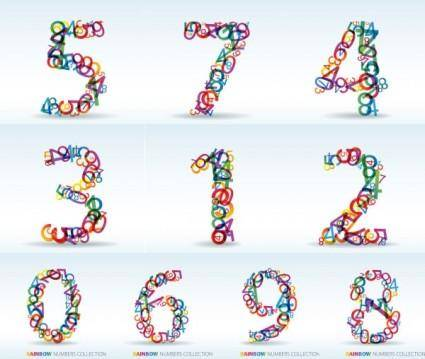 free vector Numbers of digital vector