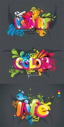 free vector Threedimensional word vector the trend