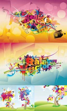 Gorgeous fashion font graphic vector