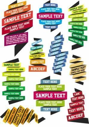 free vector Vector color ribbons ribbons