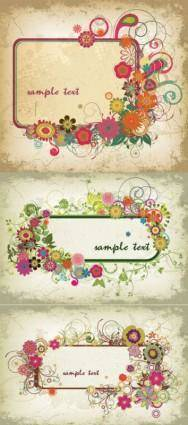 Three colorful graphics border vector
