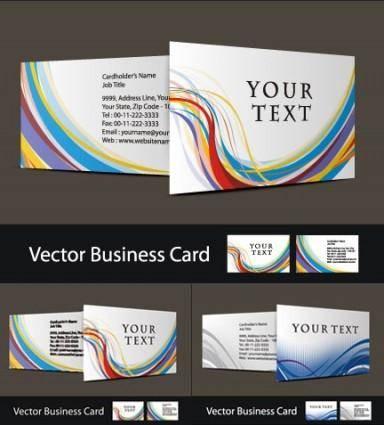 free vector Three beautiful business card vector