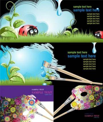 free vector Brushes and graffiti vector