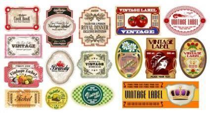 Vector fashion bottle label