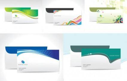 5 stylish beautiful envelope vector