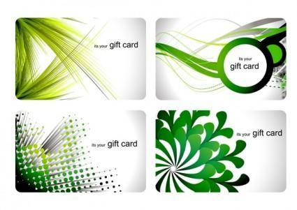 free vector Business card trend vector