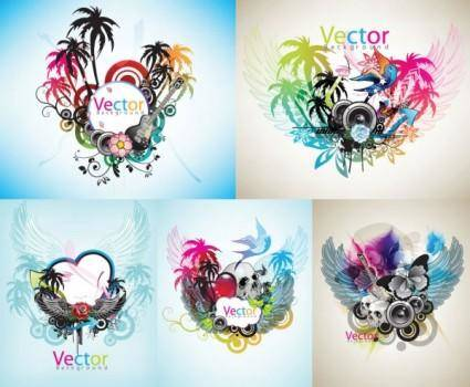 Music theme vector the trend
