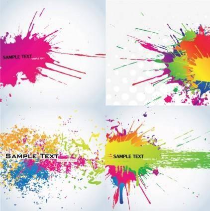 free vector Color ink vector