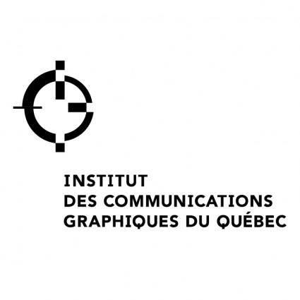free vector Institut des communications graphiques du quebec