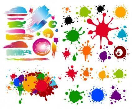 free vector Colorful black mark on the ink vector