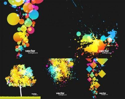 Colorful element vector