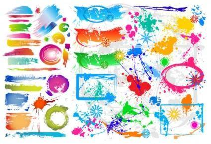 Colorful ink vector