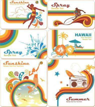 free vector Summer trend element vector