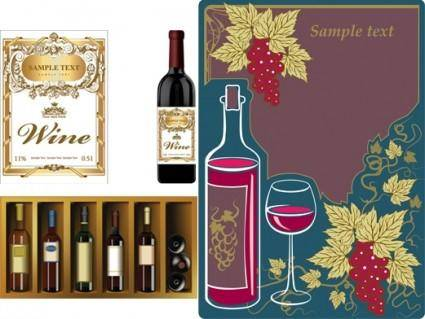 Wine bottles bottles paste wine and vintage wine posters vector