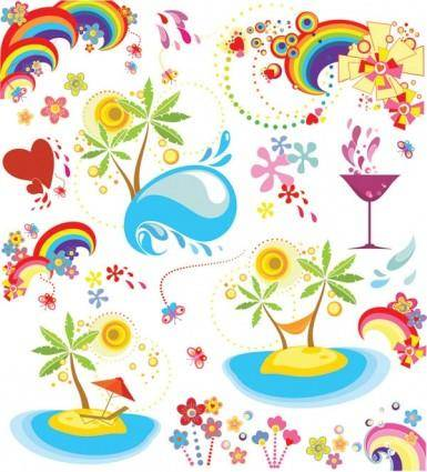 Summer fun dynamic element vector