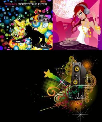 Dj music theme vector