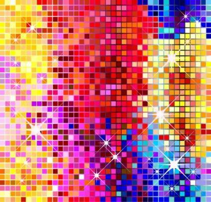 Bling bling ballroom effect vector