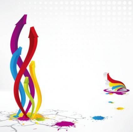 Colorful threedimensional arrow vector