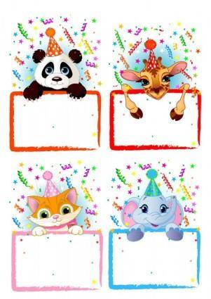 free vector Vector festive bulletin board animals