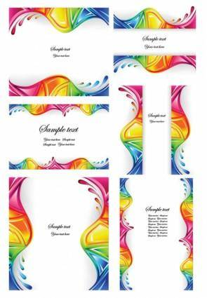 free vector Colorful dynamic wave vector graphics