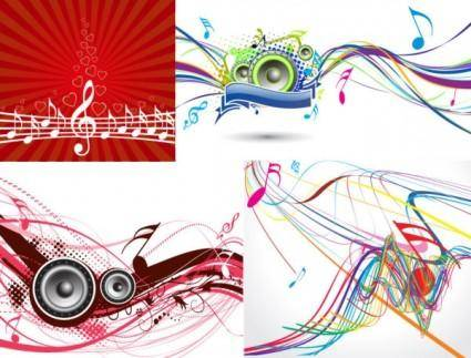 free vector 5 dynamic musical elements vector the trend