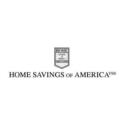 free vector Home savings of america