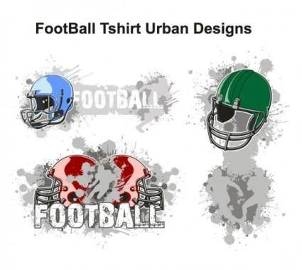 free vector American football theme tshirt design trend vector