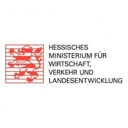 free vector Hessisches ministerium fur wirtschaft